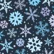 Winter background with snowflakes — Stok Vektör #7538519