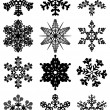 Stock Vector: 12 snowflakes