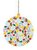 Xmas holiday decoration — Stock Vector