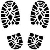 Foot prints — Stock Vector