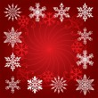 图库矢量图片: Holiday background of snowflakes