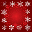 Stock Vector: Holiday background of snowflakes