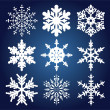 Stockvector : Set of 9 snowflakes