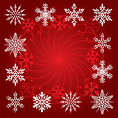 Holiday background of snowflakes — Stock Vector