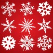Stock Vector: 9 snowflakes