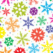 Stock Vector: Colorful snowflakes