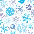 Stockvector : Grunge winter background with snowflakes