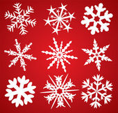 9 flocos de neve — Vetorial Stock
