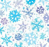 Grunge winter achtergrond met sneeuwvlokken — Stockvector