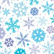 Winter background with snowflakes - Stok Vektör