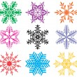 Stok Vektör: Colorful snowflakes