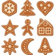 Vector gingerbread cookies — Stock Vector