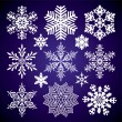 Set of snowflakes — Stok Vektör #7814998