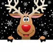 Stock Vector: Santclaus and rudolph deer