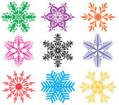 Colorful snowflakes — Stok Vektör