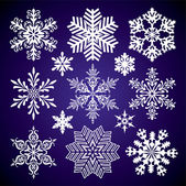 Set of snowflakes — Stock vektor