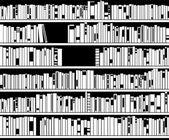 Black and white modern bookshelf — Stock Vector