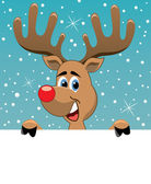 Santa claus and rudolph deer — Stock Vector