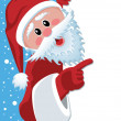 Vector santa claus holding blank paper — Stock Vector