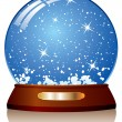 Vector snow globe — Stock Vector