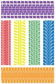 Vector tire prints — Stock Vector