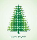 Vector christmas holiday tree — ストックベクタ