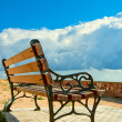 Bench at the edge — Stock Photo
