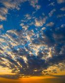 Bright sunset — Stock Photo