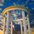 Stock Photo: Arch with columns at sunset