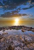 Jemný západ slunce — Stock fotografie