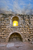 Ruins against the setting sun — Stock Photo
