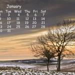 English landscape 2012 calendar page January — Stock Photo #7026112