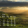 English landscape 2012 calendar page June — Stock Photo