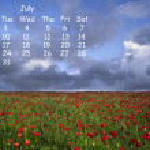 English landscape 2012 calendar page July — Stock Photo #7026138