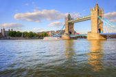 London Tower Bridge on blue sky Summer day — Stock Photo