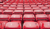 Repetitive pattern of football stadium seating — Stock Photo