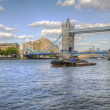London&#039;s Tower Bridge bathed in sunlight on a bright Summer&#039;s day - Stock Photo