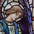 Beautiful stained glass window detail of Saint Peter — Stock Photo