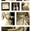 Stock Photo: Wedding Collage background collection in sepia