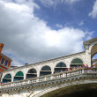Venice Italy Rialto Bridge as seen from a gondola — Stock Photo