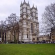 Westminster Abbey, location of the Royal Wedding in April 2011, viewed acro — Stock Photo