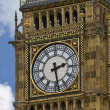 Close up of Big Ben clock face in Westminster London, iconic landmark in En — Stock Photo