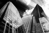 Dramatische kontrastreich schwarz-weiß bild für unternehmen konzept — Stockfoto