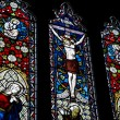 Detail of stained glass religious window in church — Stock Photo #7126022