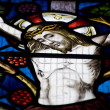 Detail of stained glass religious window in church — Stock Photo #7126082