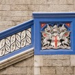 Detail of Tower Bridge London Crest Heraldry - Stock Photo