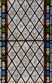 Detail of stained glass religious window in church — Stock Photo