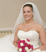 Beautiful young bride formal portrait — Stock Photo