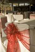 Wide shot of wedding reception awaiting guests — Stock Photo