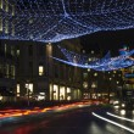 Regent Street Christmas Lights in London — Stock Photo